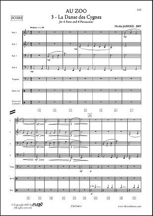 Descargar Libro PARTITURA CLASICA - Au ZOO - No. 3 - La Danse des Cygnes - N. JARRIGE - Wind Band de Unknown