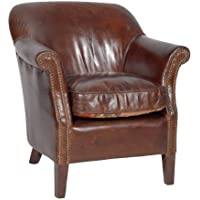 Casa Padrino luxury leather armchair Vintage Cigar Brown Mod2 - leather armchairs Art Deco Lounge