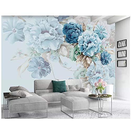 chtshjdtb Pfingstrose Blumengarten Wohnzimmer TV Hintergrund Wandmalerei 3D-Tapete Individuelle Tapete Nordic frisch gestrichen