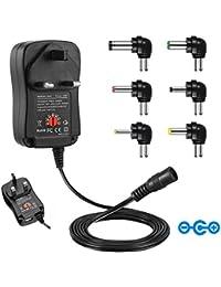 IKOCO - Transformador/adaptador (3-12V CC, incluye varios conectores para diferentes tipos de dispositivos)