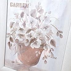 Cuadro vintage, acrílico sobre papel, precioso para una decoración elegante.
