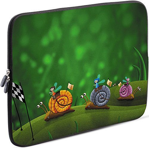 Sidorenko 11-11,6 Zoll Laptop Hülle - Laptoptasche für MacBook / Chromebook aus Neopren, Grün, 42 Designs zur Auswahl