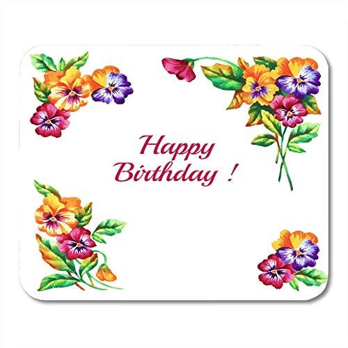 Mauspads Blühende Aquarell-Stiefmütterchen-Handfarbe Watercolol Ecken für Decoupage-Blüten-Blüten-Mausunterlage für Notizbücher, Tischrechner Mauspads -