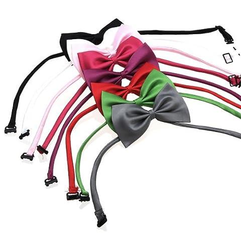 (Random Color)Adjustable Dog Cat Pet Collar Accessory Necktie Bow Tie Necktie Clothes
