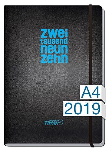 Chäff Wochen-Notizkalender Kalender 2019 A4 Maxi - Extra-Groß Jan-Dez 2019 - Notiz-Timer - Terminplaner - Wochenkalender - Organizer - Terminkalender mit Wochenplaner - Soft-Cover (Tag-planer Eine Woche Für)