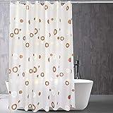Duschvorhänge,Bad trennwand vorhang Wasserdicht Anti schimmel Verdicken sie Halten sie warm Sonnenblende Umweltschutz-L 200x220cm(79x87inch)