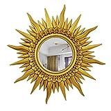 Mirror Kang Espejo Decorativo Europeo Moderno Forma del Sol Pared Colgante Pared Chimenea Espejo...