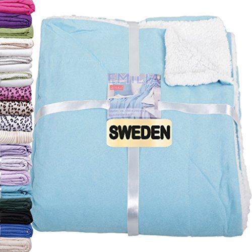 Kuscheldecke Wohndecke SWEDEN *Aktionspreis ab 4,99€* Auswahl: türkis - pfauenblau