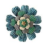 Wandsticker & Wandfiguren Wandaufkleber Kreative Moderne Minimalistische Wandschmuck Ornamente Dreidimensionale Schmiedeeisen Wanddekoration Blumen Geschenke (Color : Blue, Size : 50 * 50cm)