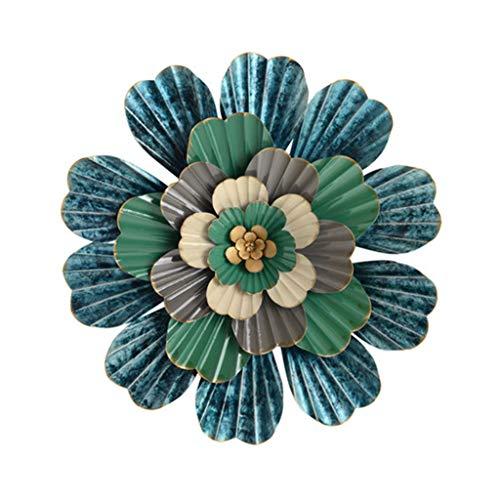 Stickers muraux Décoration Murale Ornements De Fleurs Murales Décoration Murale Tridimensionnelle En Fer Forgé Articles Ménagers Cadeaux (Color : Blue, Size : 50 * 50cm)
