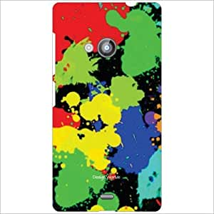 Design Worlds - Nokia Lumia 535 Designer Back Cover Case - Multicolor Phone...