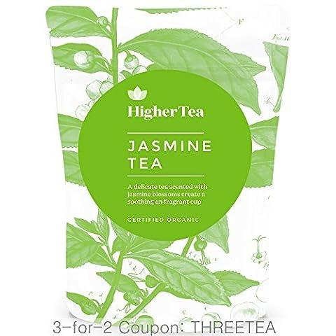 Jasmine Tea Certified Organic 100% Natural Loose Leaf Premium Tea 3 oz, By Higher Tea