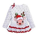 Baby Mädchen Junge Kleidung Weihnachtshirsch-T-Shirt Spitzen-Streifen-Hosen Prinzessin Outfits