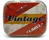 Piccola scatola in metallo stile retro, motivo casuale, contenitore vintage per piccoli oggetti, tesori, segreti, gioielli, caramelle, chewing-gum, portapillole, Vintage 2, Boite en métal vintage - Vintage 2