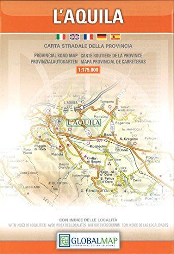 L'Aquila. Carta stradale della provincia 1:150.000 (Carte stradali)