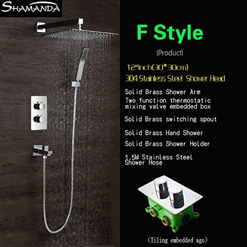 Luxurious shower Envío gratis empotrables en la pared dos funciones Embedded Box...