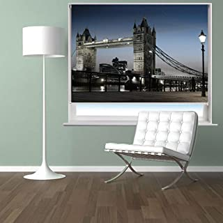 THE TOWER BRIDGE IN LONDON Printed Picture Blackout Photo Roller Blind - Custom Made Printed City Scenes Window Blind