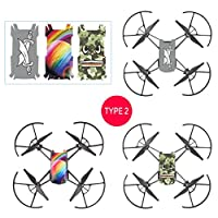 MML 3PC Cool Waterproof PVC Stickers Body Decals for DJI TELLO Drone