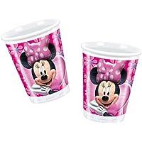 10 bicchieri Minnie in plastica 200 cc per feste party monouso