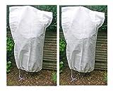 2x Housse de protection pour plantes d'extérieures à utiliser en hiver Fibre non-tissée Env....