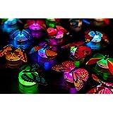 LED mariposa decoración Cumpleaños Infantil Espejo Ventana ánimo Luz