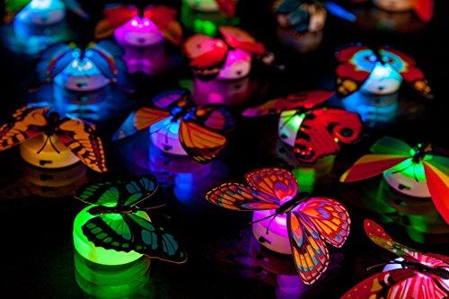 LED Schmetterling Dekoration Geburtstag Kinder Spiegel Fenster Stimmungslicht