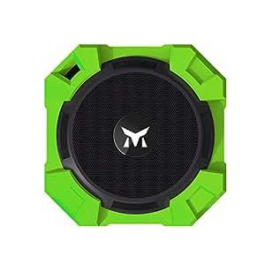Monstercube Armor Speaker Bluetooth verde chiaro, portatile, 5W di potenza in uscita, bassi alta qualità / Resistente all'acqua / Resistente alla polvere / Resistente agli urti, universalmente compatibile con tutti i telefoni, tablet, pc, ottimo per doccia e attività all'aria aperta, vivavoce portatile con microfono incorporato per agevolare le chiamate