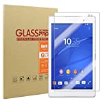 Rerii Sony Xperia Z3 Tablet Compact Tempered Glass Screen Protector High Definition 9H Hardness 0.3mm Thickness Shatterproof Delicate Touch Oleophobic Coating Real Glass Sony Xperia Z3 Tablet