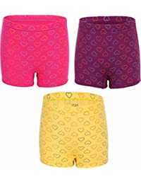 UCARE Girls Cotton Printed Bloomers/Panties (Color & Print May Vary) (615-Pack of 3) Assorted