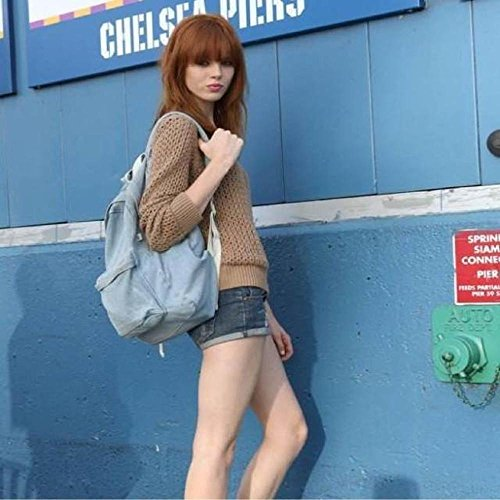 Imagen de bolsos de las mujeres, feitong moda unisex denim  de viaje bolsa para la escuela retro casual  pantalón azul claro  alternativa