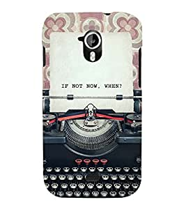 VINTAGE TYPEWRITER WITH A QUOTE 3D Hard Polycarbonate Designer Back Case Cover for Micromax Canvas HD A116::Micromax Canvas HD Plus A116Q