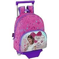 Violetta - Mochila infantil con ruedas, 28 x 34 x 10 cm (Safta 611347020)