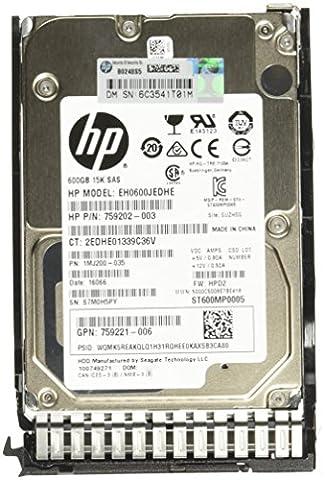 Hewlett-Packard 759212-B21 Disque dur interne 600 Go SAS Noir