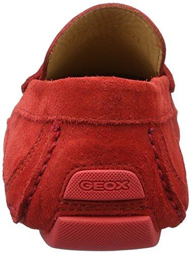 Geox U Melbourne A, Mocassini Uomo Rosso (Redc7000)