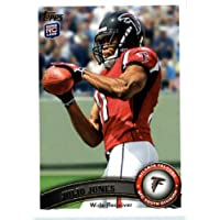 2011 Topps Football Card # 350 Julio Jones RC / (football at chest) - Atlanta Falcons (RC - Rookie Card) NFL Trading Card