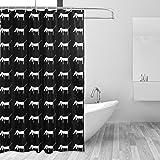 Bennigiry Dackel Hund Bad Vorhang, Polyester Stoff Wasserdicht Duschvorhänge 152,4x 182,9cm, Haken im Lieferumfang Enthalten
