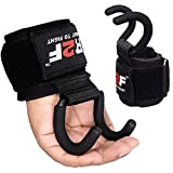 R2F Ganci Sollevamento Pesi Cinghie Crossfit Polsiere Bodybuilding Gancio Imbottitura Neoprene Fitness Powerlifting Trazioni Allenamento Weight Lifting Hook Guanti Support Polso Palestra