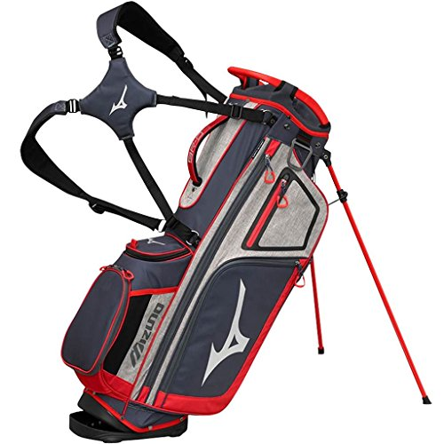 Mizuno BRD4S Sac de Golf Mixte Adulte, Gris/Rouge