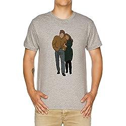 Vendax Minimalista Freewheelin Chelín Dylan Camiseta Hombre Gris