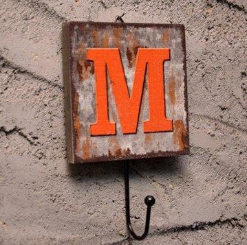 Crochet Mural Vintage Design Decoratif Porte Clés Original M Alphabet Lettre