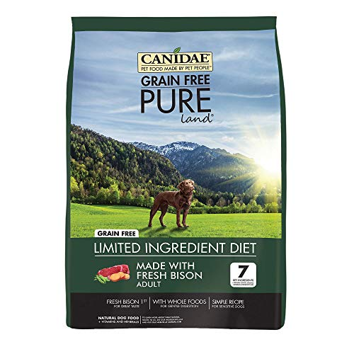 Canidae Grain Free PURE Land Dog Dry Formula with Fresh Bison, 4 lbs