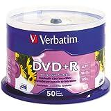 Verbatim : Disc DVD+R 4.7GB 16X Branded White InkJet Printable 50/PK SpindleInkJet Printable 50/PK Spindle -:- Sold As 2 Packs Of - 50 - / - Total Of 100 Each