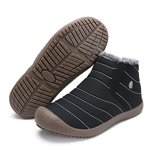 980ec5d1cc9a SAGUARO Herren Damen Winterschuhe Warm Gefütterte Boots Stiefelette Outdoor  Schneestiefel Winter Schuhe High top schwarz ...
