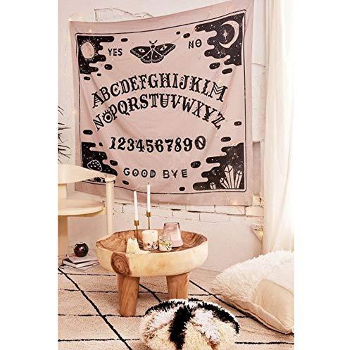ndala Tapisserie Wandbehang psychedelische Tapisserie Tarot Ouija Wand Tuch Teppich Schlafsaal Kopfteil Strand Schal Teppich Zahlen und Buchstaben ()
