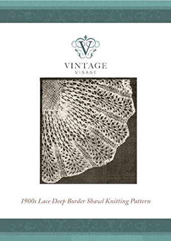 Victorian style lace baby christening shawl vintage knitting pattern (Antique Lace baby Shawls to Make Book