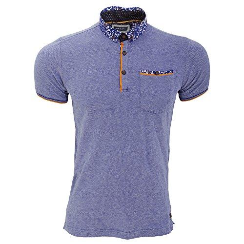 Brave Soul Herren Locke Polo-Shirt, Kurzarm Grau