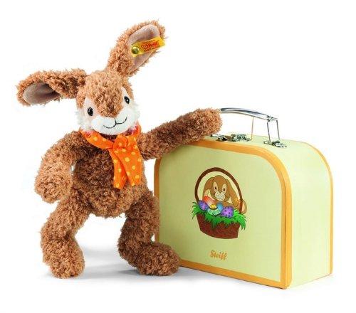 Steiff 113499 - Jolly Hase 26 cm im Koffer, braun