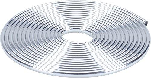 Preisvergleich Produktbild hr-imotion 12110701 Türkantenschutz silber / chrom (5 Meter) [U-Profil | Hochflexibel | Zuschneidbar   Selbstklebend]