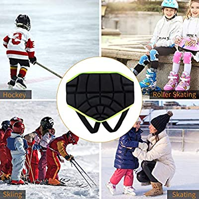 Yeying123 3D Padded Protection Hip Kids Protective Hip Pad Shorts Anti-Slip Adjustable Lightweight Children Butt Pad Pants für Outdoor-Skate-Snowboard Roller Skating