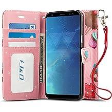 Custodia Galaxy S8, J&D [Portafoglio Stand] [Sottile Adatta] Protettiva Robusta Antiurta Flip Custodia per Samsung Galaxy S8 - Cupcake